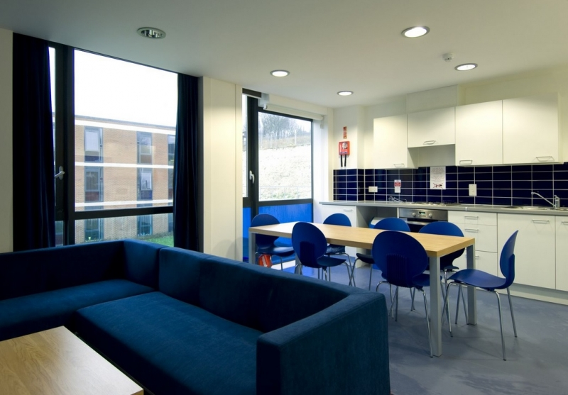 A shared kitchen in a student hall